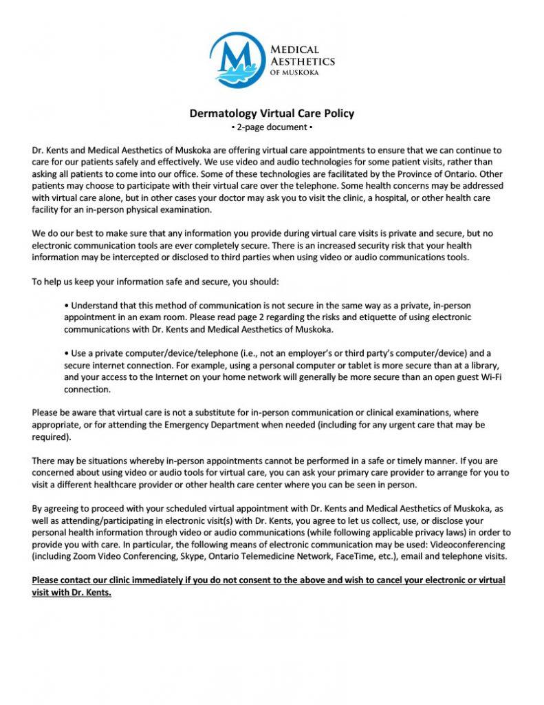 Virtual Care Policy